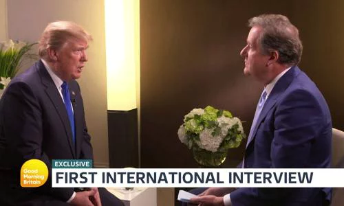 A screenshot of Donald Trumps interview with Piers Morgan